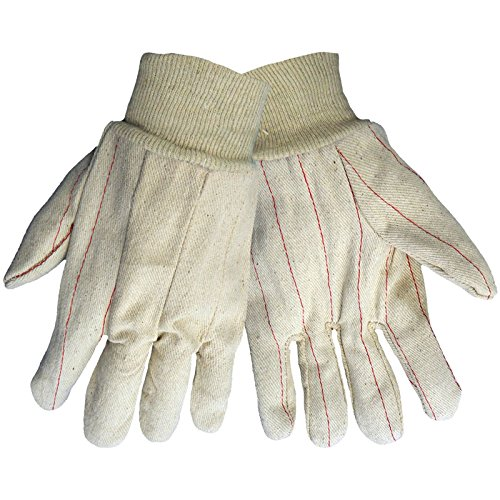 Hot Knit Mill (Global Glove C18DP Double Palm Natural Color Glove, Knit Wrist, Double Palm, 18 oz. Hot Mill)