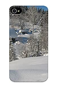 Eatcooment New Arrival Iphone 4/4s Case Winter In The Mountains Case Cover/ Perfect Design