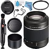 Sony DT 55-200mm f/4-5.6 SAM Lens SAL55200/2 + 55mm UV Filter + Lens Pen Cleaner + Fibercloth + Lens Capkeeper + Deluxe Cleaning Kit Bundle