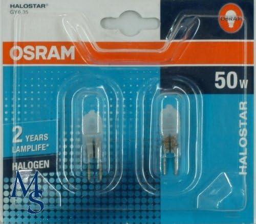 5 lampadine alogene con attacco bispina 12 V attacco Gy6.35 Osram Halostar Starlite 64440 S 50 W