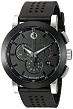 movado watches amazon com movado men s 0606545 museum perforated black rubber strap sport watch