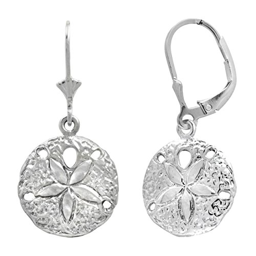 Sterling Silver Dollar Leverback Earrings