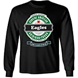 4u4design Football- Long Sleeve Eagles Beer Shirt - Sizes up to 6XL