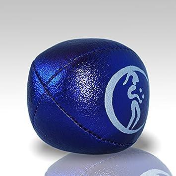 Metallique - Le Jeu De 3 balles de Jonglage 3X Pro Balles de Jonglage Thud en Cuir Super Durable Jonglerie Beanbags Sac de Voyage. M/étallique Argent