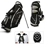 Team Golf MLB Chicago White Sox Fairway Golf Stand Bag, Lightweight, 14-way Top, Spring Action Stand, Insulated Cooler Pocket, Padded Strap, Umbrella Holder & Removable Rain Hood