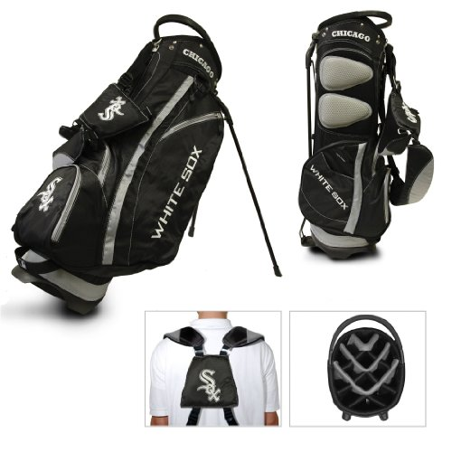 Team Golf MLB Chicago White Sox Fairway Golf Stand Bag, Lightweight, 14-way Top, Spring Action Stand, Insulated Cooler Pocket, Padded Strap, Umbrella Holder & Removable Rain Hood ()