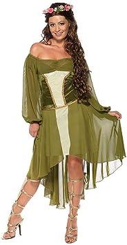 DISBACANAL Disfraz de NINFA del Bosque para Mujer - -, L ...