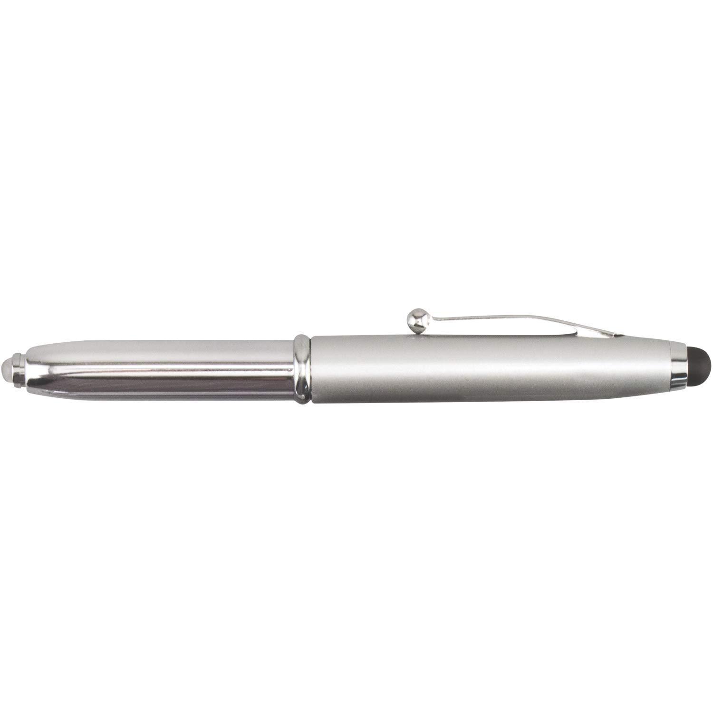 IWRITELED2 - Metal Stylus Pen LED Light+Box tool pen - doctor's pen - stylus pen - LED pen - flashlight pen (silver, 250)