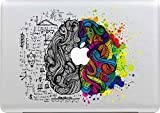 Sticker Superb Removable Art Vinyl Decal Stickers for Apple Macbook Air Pro Mac 13 Inch or Laptop (Wisdom brain 5)