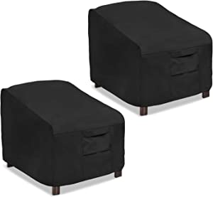 Honest Patio Chair Covers, Lounge Deep Seat Cover, Heavy Duty and Waterproof Outdoor Lawn Patio Furniture Covers (2 Pack-Large, Black)