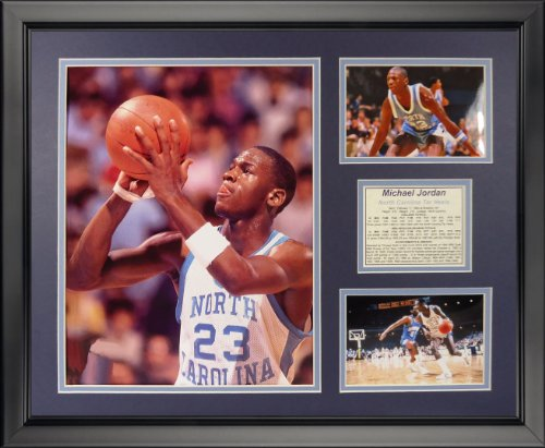 (Legends Never Die Michael Jordan - North Carolina - Free Throw Framed Photo Collage, 16
