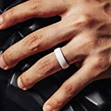ThunderFit Silicone Rings Wedding Bands for Men