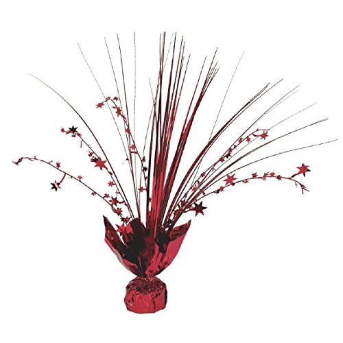Amscan 12-inch Foil Spray Centrepiece Party Accessory, Red Amscan International 110002.4