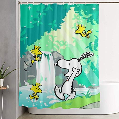 WSXEDC Shower Curtain Take A Shower Snoopy Waterproof Curtain 60 X 72 Inches ()