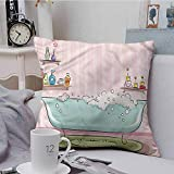 Fbdace Throw Pillow Covers Teens Girls Oil Aromatherapy Theme for Sofa Bedroom Car 16 X 16 Inch