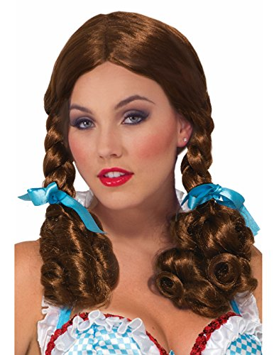 Forum Novelties Wig-Farm Girl, Brown, Standard -