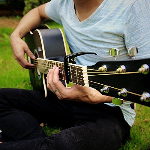 Finrezio 3 Pcs Classical Guitar Capos with 8 Pcs Guitar Picks for Acoustic Guitar (3 Colors a set) by Finrezio (Image #3)