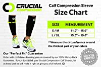 Calf Compression Sleeve for Men & Women (1 Pair) - Instant Shin Splint Support, Leg Pain Relief, Circulation and Recovery Socks - Calf Sleeves for Runners, Traveling, Nurses, Varicose Veins, Cramps from Crucial Compression