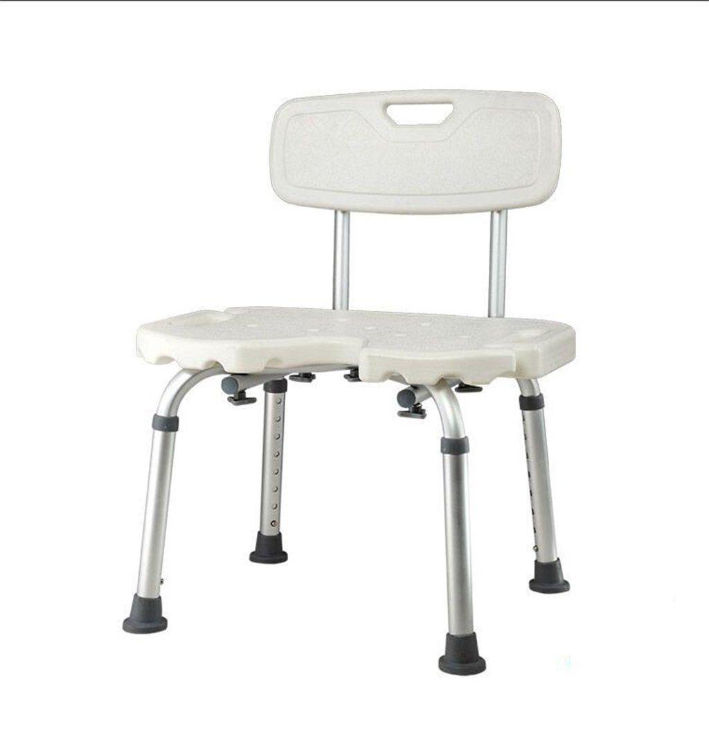 【高価値】 高齢者とアルミニウム合金シャワー座席のためのバスチェア妊娠中の女性シャワースツール調節可能な背もたれ付き快適な背もたれ付きスツール 耐荷重141kg - - 耐荷重141kg B07DQG3LF7 B07DQG3LF7, エルショップ:8b34a8ad --- arianechie.dominiotemporario.com