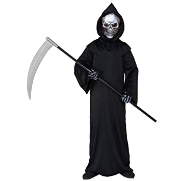 Halloween Kinderkostüm Sensenmann Kinder Kostüm Halloweenkostüm ...