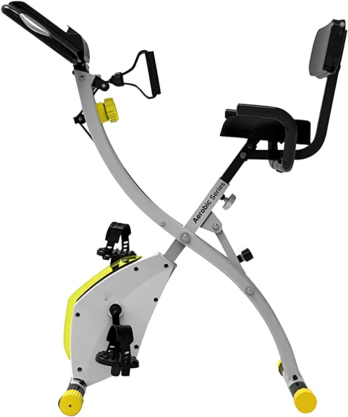 Bicicleta de ejercicios plegable interior con capacidad de peso de ...
