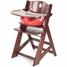 Keekaroo Height Right High Chair, Infant Insert and Tray Combo, Mahogany/Cherry
