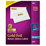 Avery Foil Mailing Labels, 3/4 x 2-1/4, Gold, 300/Pack, PK - AVE8987