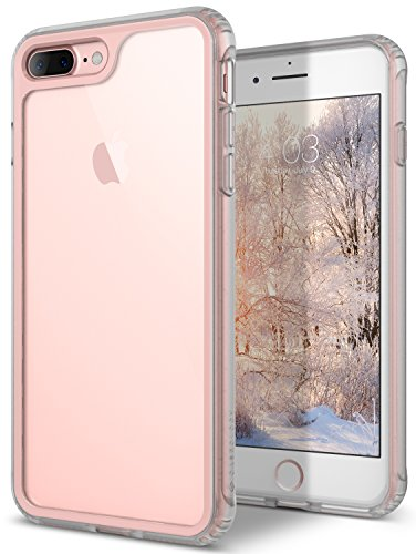 Caseology Coastline Series iPhone 7 Plus / 8 Plus Cover Case with Clear Slim Protective for Apple iPhone 7 Plus (2016) / iPhone 8 Plus (2017) - Pink Clear Pink Case