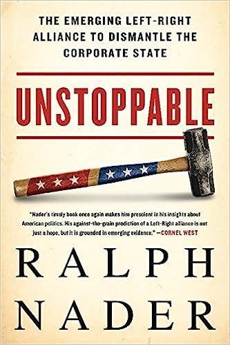 ralph nader book tour