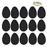NeeQi 15 Pairs Anti-Slip Shoe Grips Rubber Self-Adhesive Non-Slip High-Heeled Shoes Sole Protector Pads Sticker
