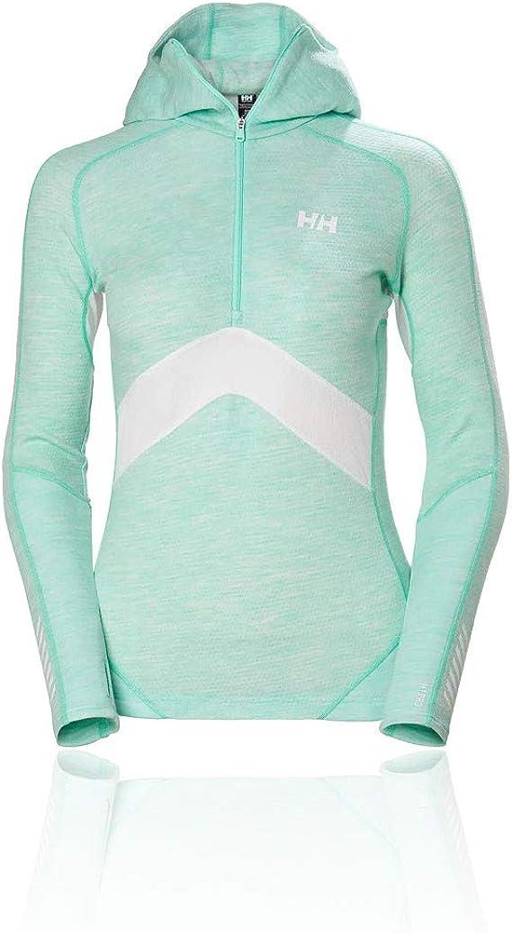 Helly Hansen Femme Hh Lifa Merino 1//2 Zip Top-Noir Sport Running Outdoors
