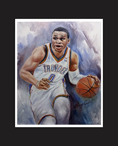 Russell Westbrook III - American professional basketball player for the Oklahoma City Thunder of NBA. Oil Painting Print 16 X 20