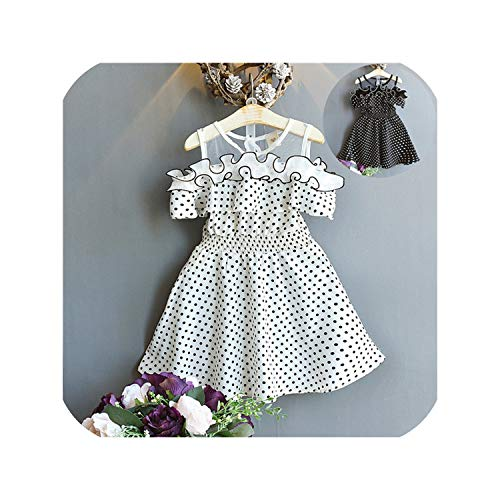Kids Baby Girls Summer Dress Dot Printing Party Pageant Princess Dresses Robe -