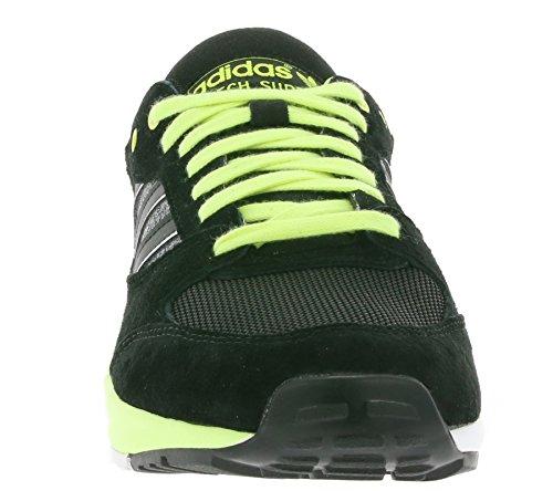 Adidas Damen Tech Super Sneaker Freizeitschuhe Turnschuhe D65891 Schwarz Schwarz