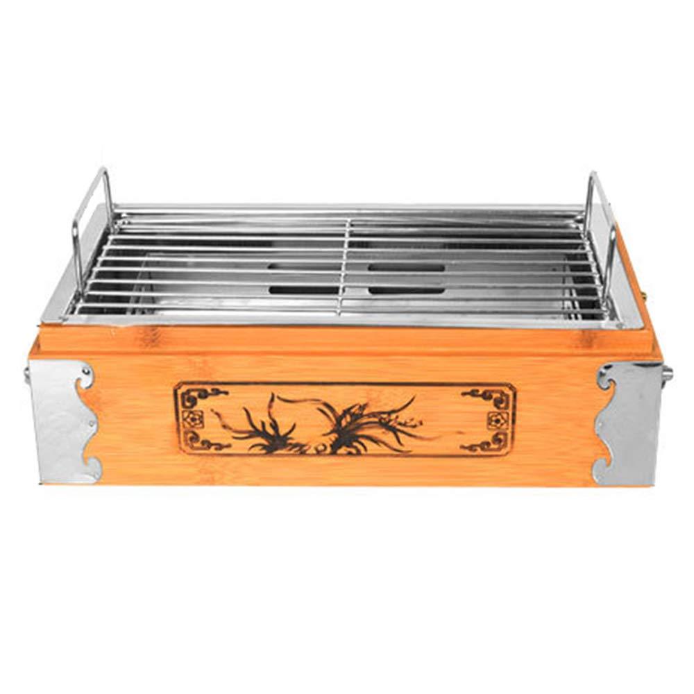 Barbecue supplies Portable Multifunktions-Quadrat Grill Herd, antike Holzkiste Spieß, Holzkohle Grillplatte ZDDAB im Innen- und Außenbereich