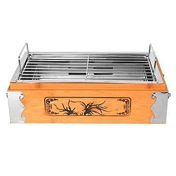 Barbecue supplies Conveniente Estufa de Parrilla Cuadrada, Parrilla de Caja de Madera Antigua, Placa de Parrilla de carbón Interior y Exterior ZDDAB: ...