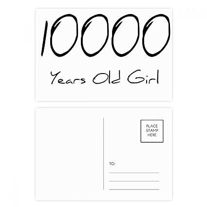 DIYthinker 10000 Gracias tarjeta Años de Edad Chica Edad ...