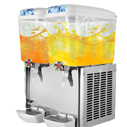 OrangeA Juice Dispenser Commercial Beverage Dispenser with Spigot Drink Dispenser 9.5 Gallon Cold Fruit Juice Beverage Ice Tea Drink Dispenser 18L X 2 Tanks (9.5 Gallon 2 Tanks) Drink Machine