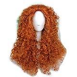 FWHWJ Women's Fluffy Wavy Curly Party Halloween Costume Wig Long Orange