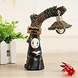fannuoyi Spirited Away Kaonashi No Face Man Night Light Best Gift Home Decor Craft Decorative Lights (Light with Book)