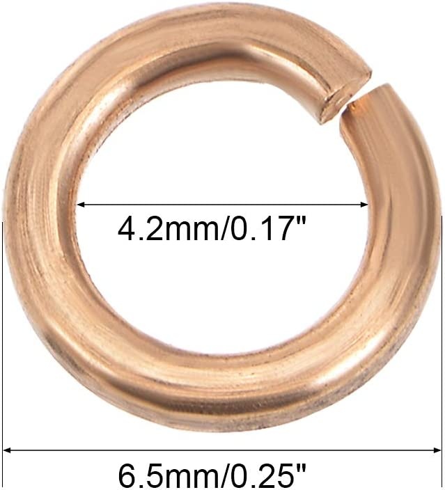 sourcing map Arandela plana de cobre de 10pcs 12.5mm x 24mm x 1.5mm para tornillo de tornillo