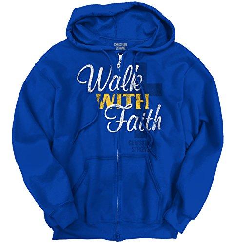 Walk with Faith Jesus Christ Christian Love Zip Hoodie (Hoodie Faith Zip)