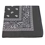VANKER 1Pc Black Sports Polyester Paisley Bandana Head Hair Neck Scarf Neckerchief Hip-Pop Streeting Dancing