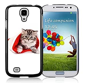 2014 Latest Samsung S4 TPU Protective Skin Cover Christmas Cat Black Samsung Galaxy S4 i9500 Case 9 Kimberly Kurzendoerfer
