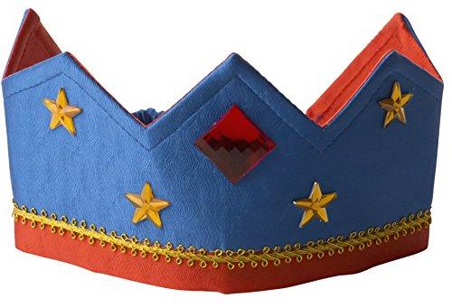 Sarahs Silks - Reversible Silk Crown - Royal Blue/Red