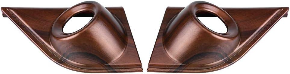 2 Pcs Peach Wood Grain Stickers Interior Decorative Accessory for Honda CRV 2017 Acouto Car Front Door A Pillar Cover Trim