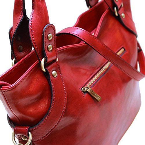 Floto Floto Bag Red Leather Taormina Leather Taormina Red Bag Floto SqZfH