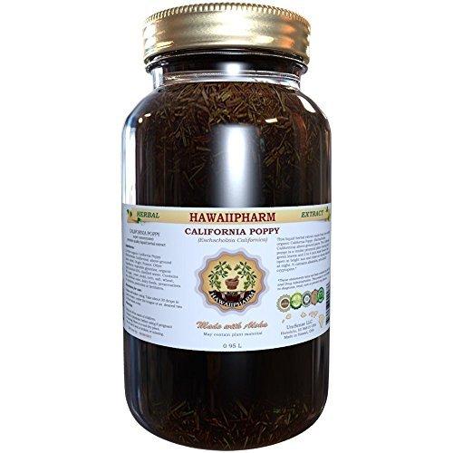 Certified Organic California Poppy (Eschscholzia Californica) Liquid Extract 32 oz Unfiltered by HawaiiPharm