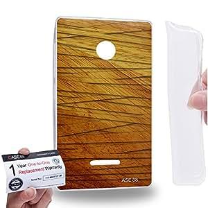 Case88 [Nokia Lumia 435] Gel TPU Carcasa/Funda & Tarjeta de garantía - Art Mummifed Style Fabric Art1463