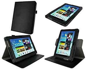 rooCASE Dual-Axis Leather Folio Case for Samsung Galaxy Tab 2 10.1 (Black)